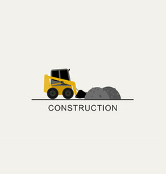 loader removes heaps vector image vector image