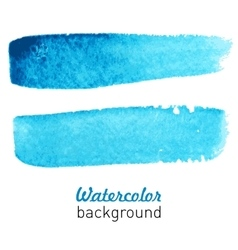 Water-color blue background vector