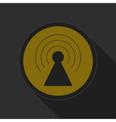 dark gray and yellow icon - transmitter vector image vector image
