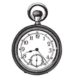 old pocket watch vector image