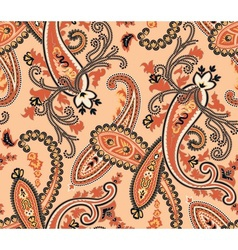 Seamless paisley background Beige colors vector image vector image