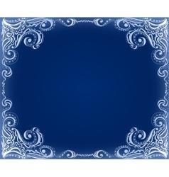 Template frame design for card Floral pattern vector image vector image