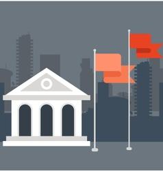 University building in cartoon style vector image