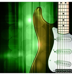abstract green music background with electric vector image vector image