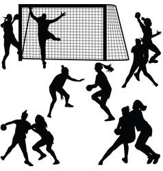 handball woman player vector image vector image