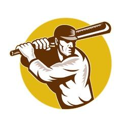 retro cricket background vector image vector image