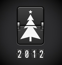 scoreboard christmas tree vector image vector image