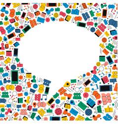 social media chat bubble icon concept design vector image vector image