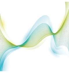 wave wallpaper shiny blue and green background vector image