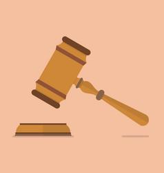 wooden judge gavel and soundboard vector image