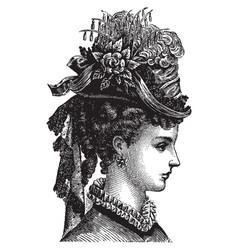 pretty vintage lady vector image vector image