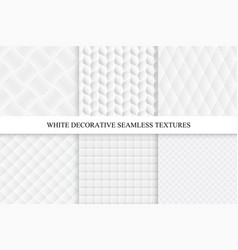 seamless white decorative textures vector image vector image