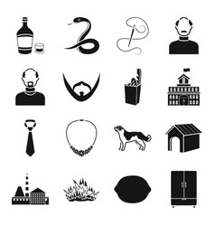 alcohol atelier appearance and other web icon in vector image