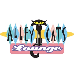 Alley Cats Lounge Bar vector image