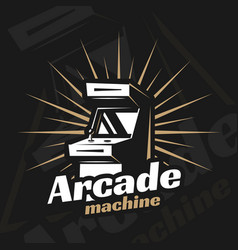 arcade machine vector image