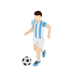 Argentina soccer player icon isometric 3d style vector image