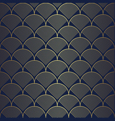 Art deco geometric with circles pattern vector