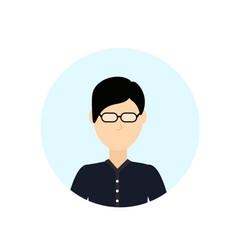 Asian man avatar isolated faceless male cartoon vector
