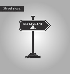 Black and white style icon restaurant sign vector