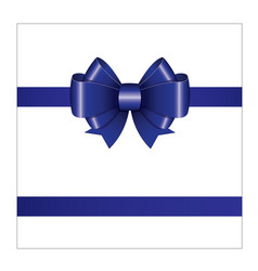 blue ribbon bow 02 vector image