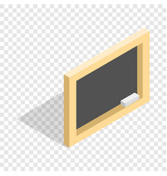 Board with chalk isometric icon vector