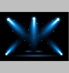 Bright blue stadium arena lighting spotlight vector