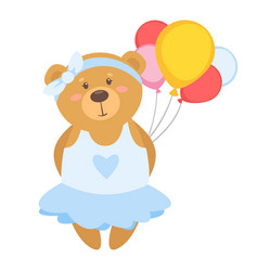 cartoon cute teddy bear vector image
