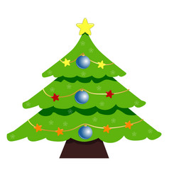 christmas tree icon symbol design of tree vector image
