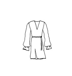 clothes line drawing of dress vector image