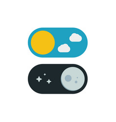 day and night switcher - web site button with vector image