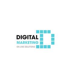 Digital marketing d letter icon vector