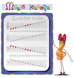 Draw a Quarter note vector