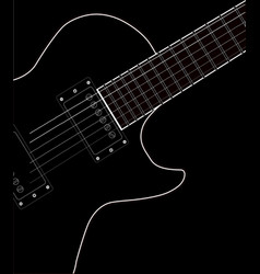 Electric guitar close up vector