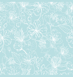 elegant floral seamless pattern with tender vector image