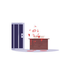 escape room challenge semi flat rgb color vector image