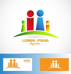 Family members logo vector image