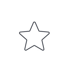 five-pointed star bookmark thin line icon linear vector image