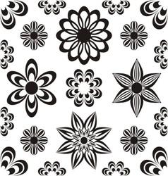 Floral backround vector