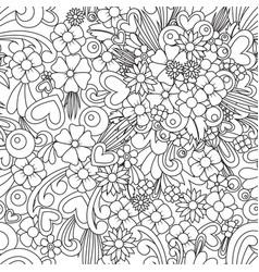 Flower wallpaper zentangle art seamless pattern vector