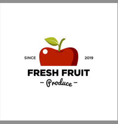 Fresh fruit produce logo vector
