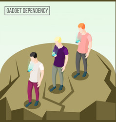 gadget dependency isometric composition vector image