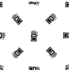 gamble machine pattern seamless black vector image