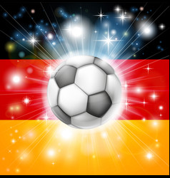 German soccer flag vector