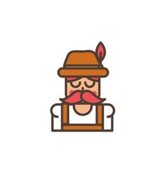 germany man oktoberfest icon line filled vector image