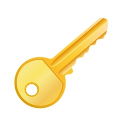 Gold key vector