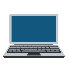 Grey and blue laptop icon vector