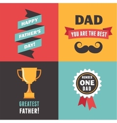 Happy fathers day greeting cards set vector image vector image