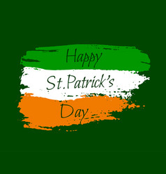 happy st patrick background vector image