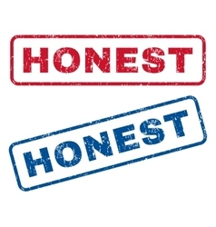 Honest rubber stamps vector