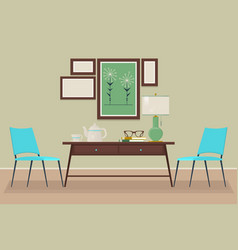 house home interior design chair table lamp vector image vector image